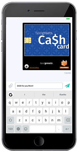 Screenshot Example Instant Cash Load Cards