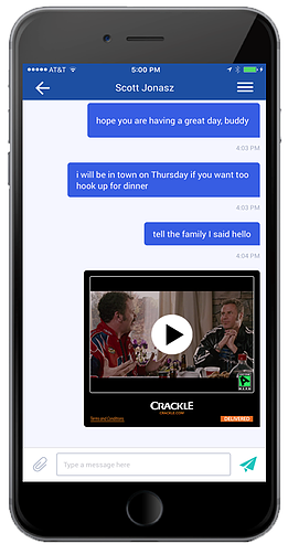 Screenshot Example Live Streaming Video in Text