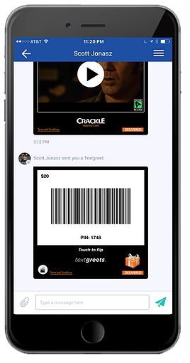 Screenshot Example Prepaid Gift Card Flipped