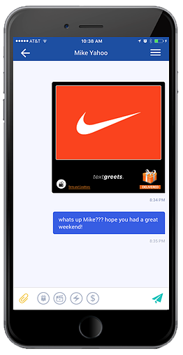 Screenshot Example Prepaid Gift Card